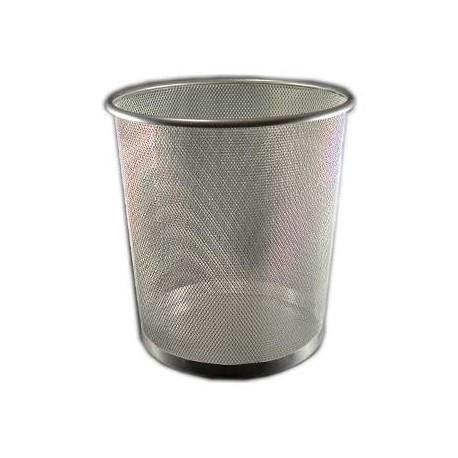 Papirkurv metal 14L, grå