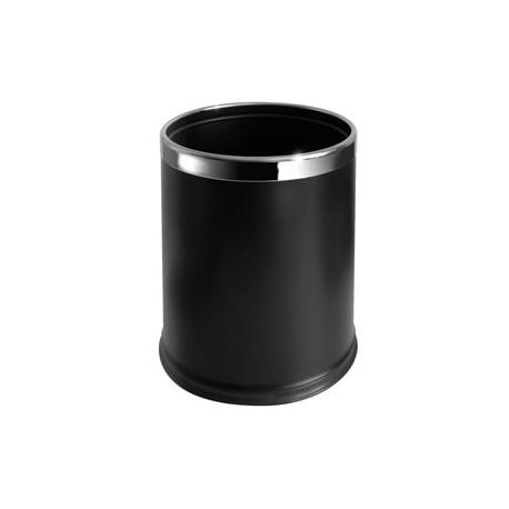 Dobbeltvægget papirkurv 10L, sort