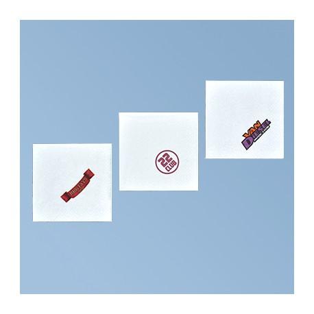 Papirserviet med logo 25*25cm, hvid 3 lag, 1/4