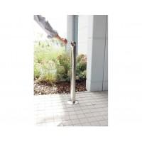 Torukujuline tuhatoos õue 1,1 L, läikiv roostevaba teras