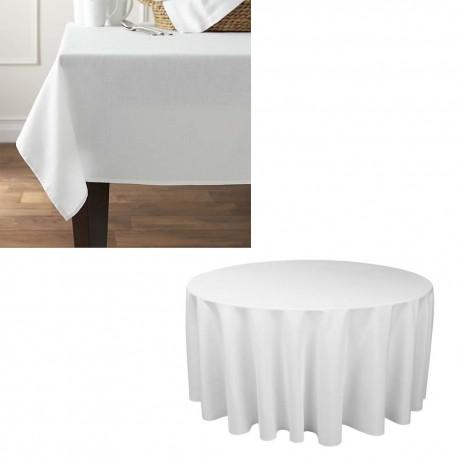 Laudlina (ümmargune) diam. 160 cm valge, 50% PV/50% PE