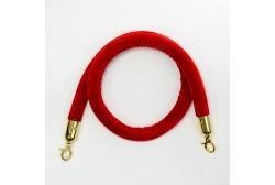 Piirdeköis veluur punane 1,5m (kuldne konks)