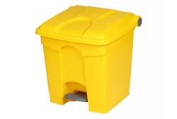Plastbeholder med pedal 30L, gul