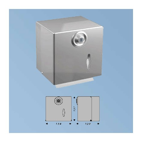 WC-papier doseringsapparat metal, matt