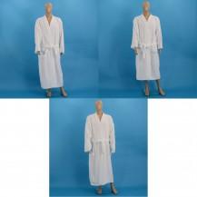 Hvid velour badekåber