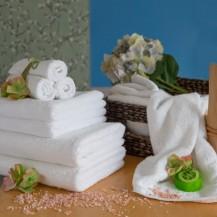 Hvid frottéhåndklæder