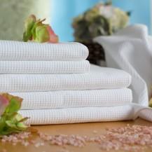 Hvid vaflehåndklæder