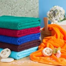 Farvet frottéhåndklæder 90*170 cm