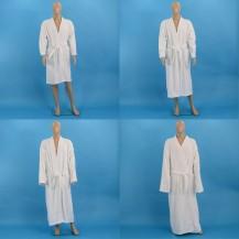Hvid frotté badekåber